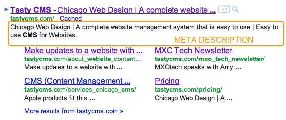 Meta Description for Tasty CMS